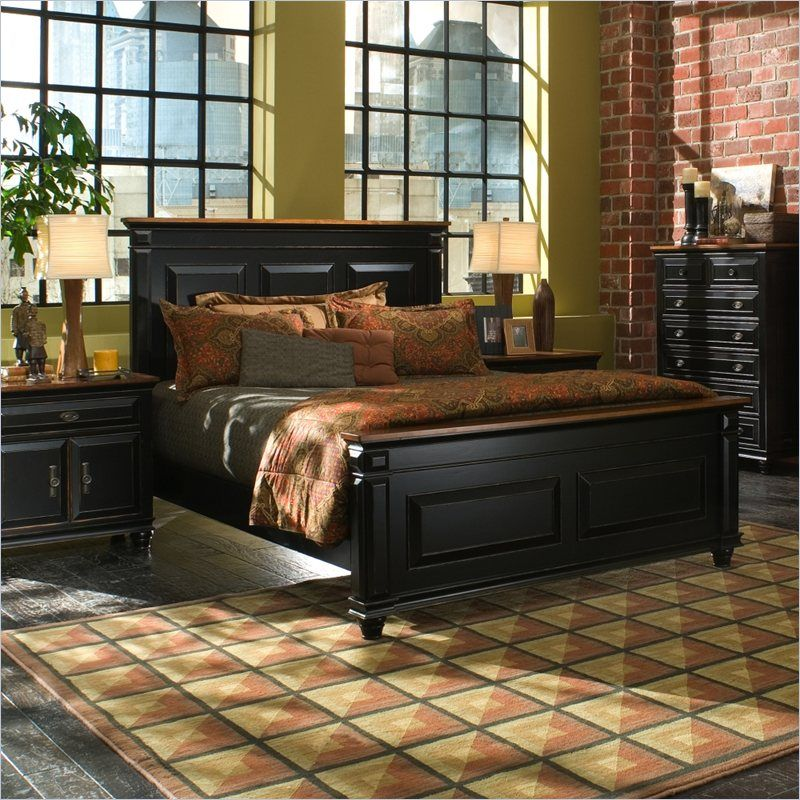 Largo Town Center: Largo Furniture Madison Panel Bed In Black And Cherry