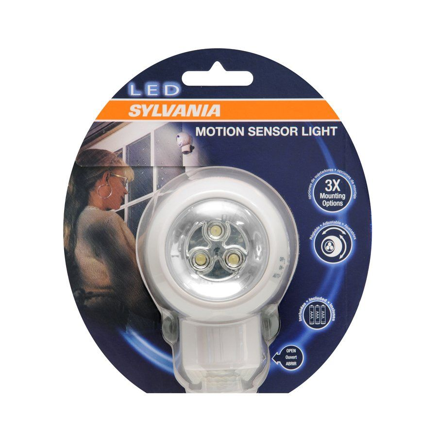 Sylvania White Led Night Light With Motion Sensor And Auto On Off Led Night Light Motion Sensor Lights Sylvania