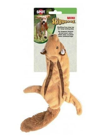 Ethical Pets Mini Skinneeez Squirrel Stuffingless Dog Toy 14