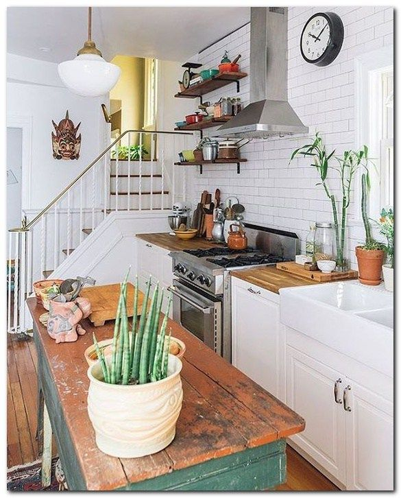 Urban Country Kitchen: 51 Smart Ideas For Small Apartment