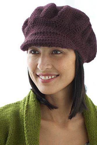 Ravelry Brimmed Cap Pattern By Lion Brand Yarn Crochet Hats