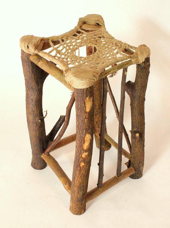 Dreamcatcher Stool No 40 Recycled Tree By HagendorfOriginals Magnificent Dream Catchers Furniture