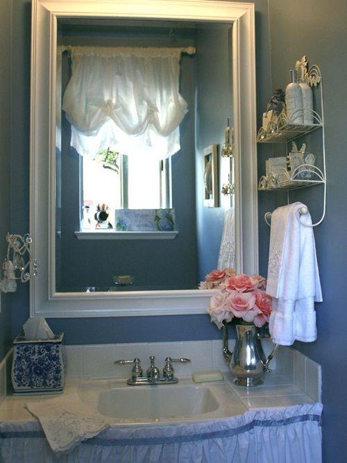 Romantic Homes Decorating: Romantic Country Style Bathroom Accessories Decor Romantic