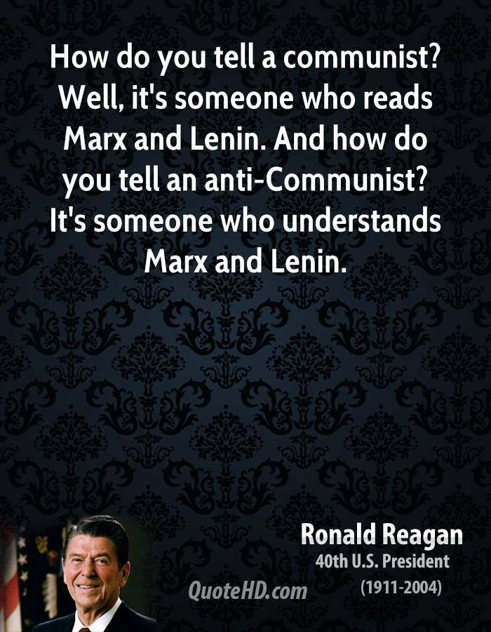 This quote was included because, Ronald Reagan states how ...