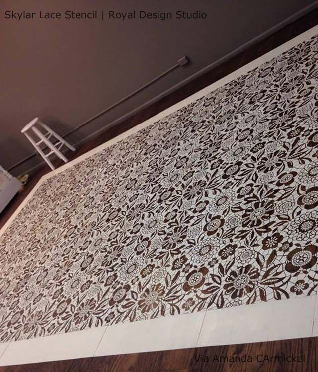 Skylars lace floral stencil diy wallpaper stenciling and ceilings skylars lace floral and flower stencils for painting diy wallpaper floors ceilings royal solutioingenieria Image collections