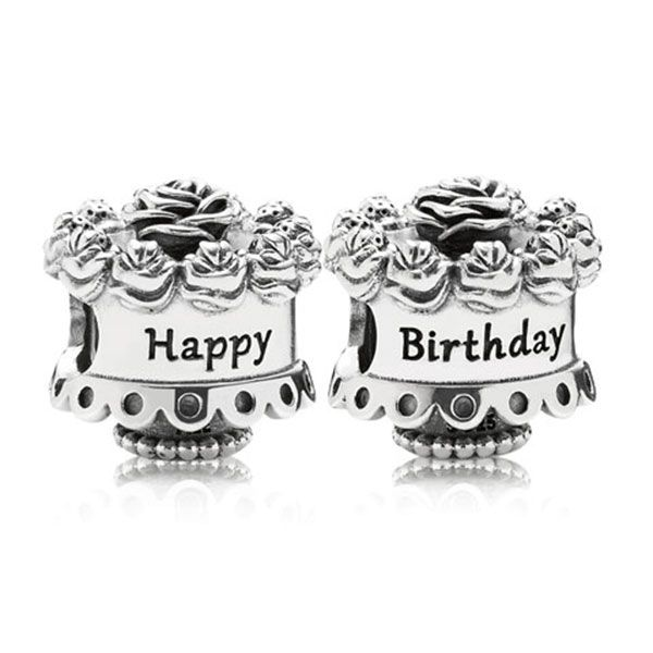 PANDORA Happy Birthday Cake Charm Pandora Charms Pinterest