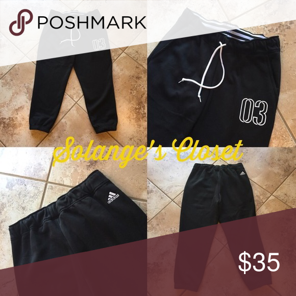 ADIDAS CROP SWEATPANTS -BRAND NEW! -NO FLAWS! -DO NOT ASK LOWEST OR SUBMIT AN OFFER IN THE COMMENTS!  -I ACCEPT REASONABLE OFFERS THROUGH OFFER BUTTON ONLY!  -I CAN'T ACCEPT AN OFFER IF YOU DON'T MAKE ONE😊  🚫NO TRADES/HOLDS  ‼️LOWBALLERS- MY ITEMS ARE NOT FREE & POSH DEDUCTS 20%! MOST OF MY ITEMS ARE RARE & IMPOSSIBLE TO FIND- PLEASE BE RESPECTFUL WHEN SUBMITTING AN OFFER‼️  ✔️Ⓜ️ Adidas Pants Track Pants & Joggers