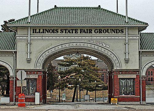 Springfield Il Art Deco Entrance Of The Illinois