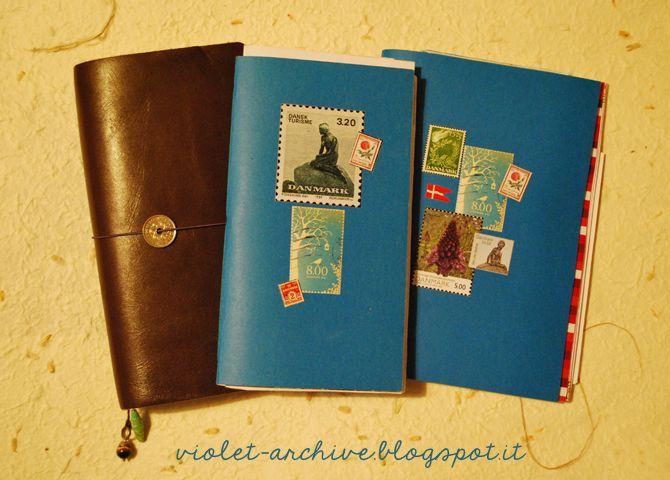 violet-archive Inserto da viaggio per Midori TN (Regular size - travel log template