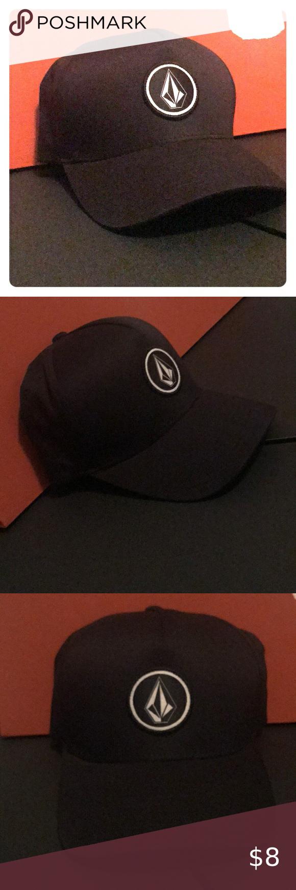 Black Volcom Flexfit Hat Size L Xl Hat Sizes Volcom Flexfit