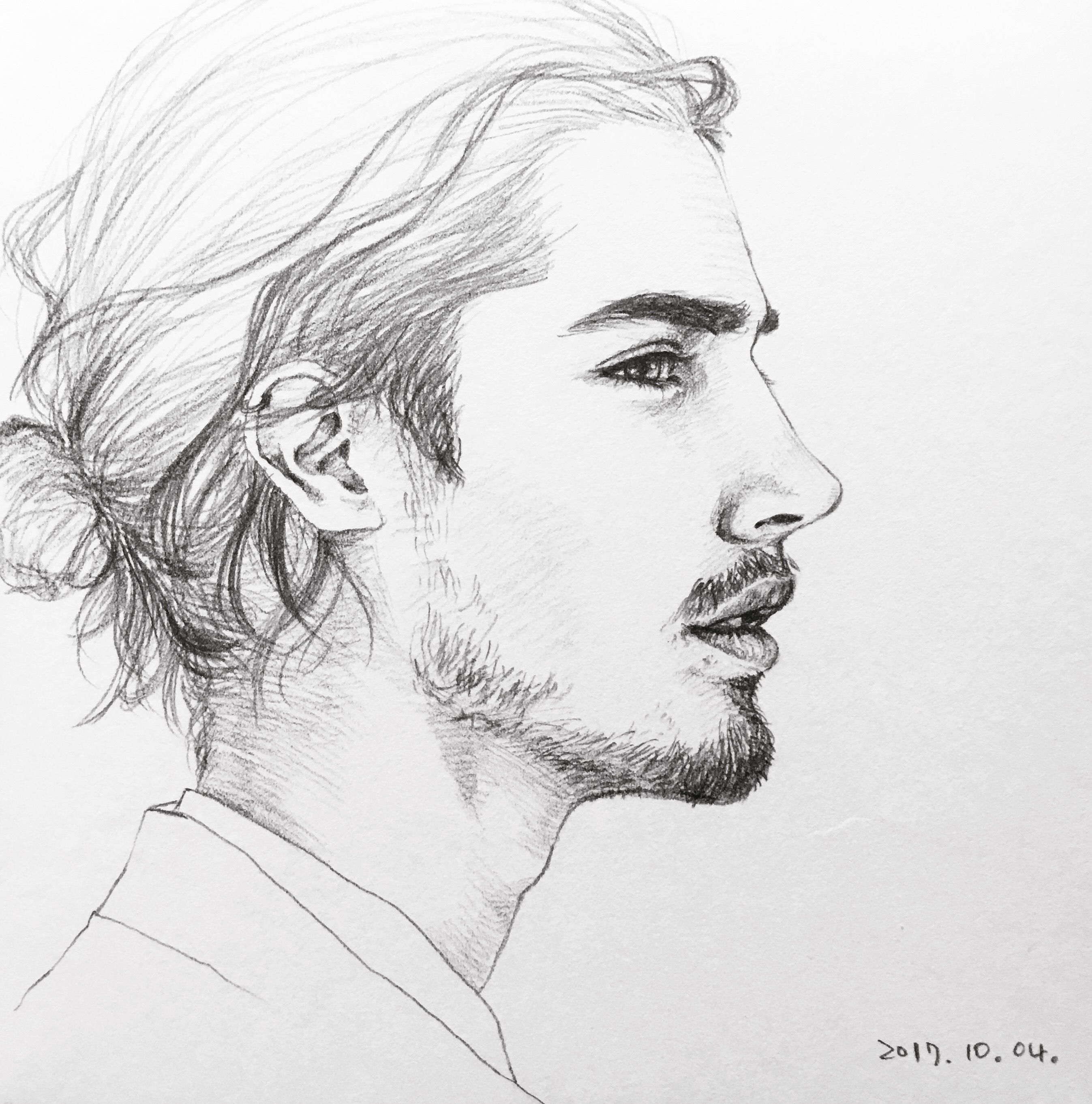Handsome Boy Sketch Pencil Draw Black And White