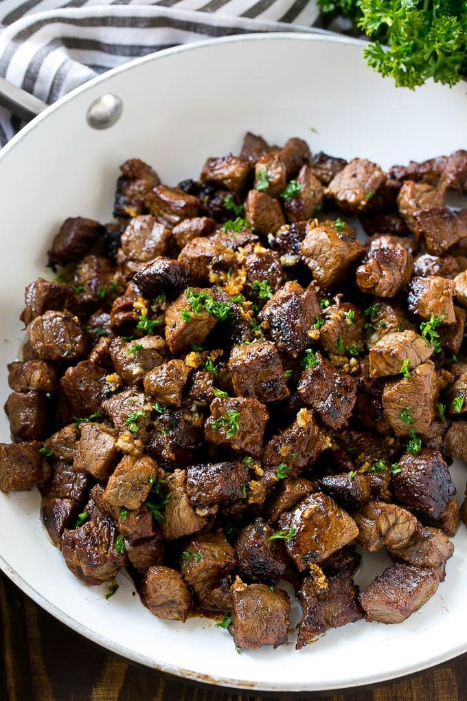 Treat Yourself to Garlic Butter Steak Bites Tonight images