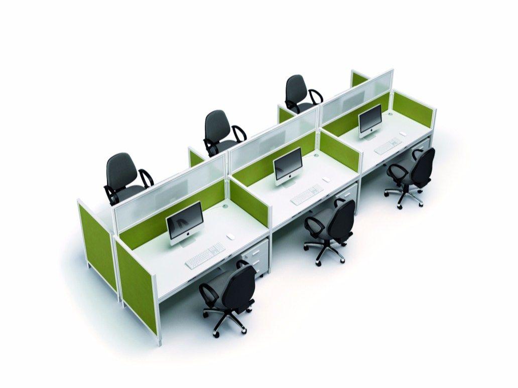X4 escritorio de oficina operativo by quadrifoglio sistemi for Quadrifoglio arredo ufficio