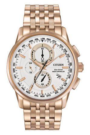 e91e8c0974699 Citizen Citizen Eco-Drive World Chronograph A-T AT8113-55A World  Chronograph AT Relógios Caros