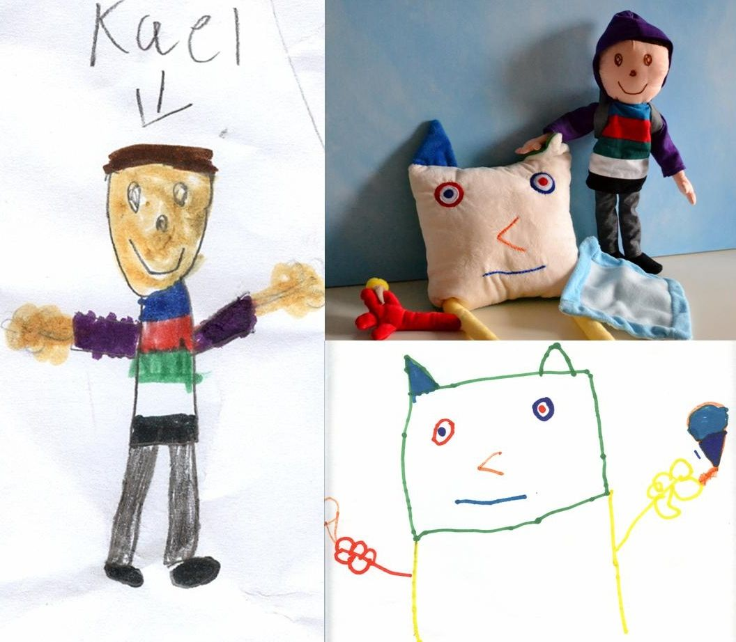 Child's own studio transforma os desenhos infantis em bonecos e almofadas!