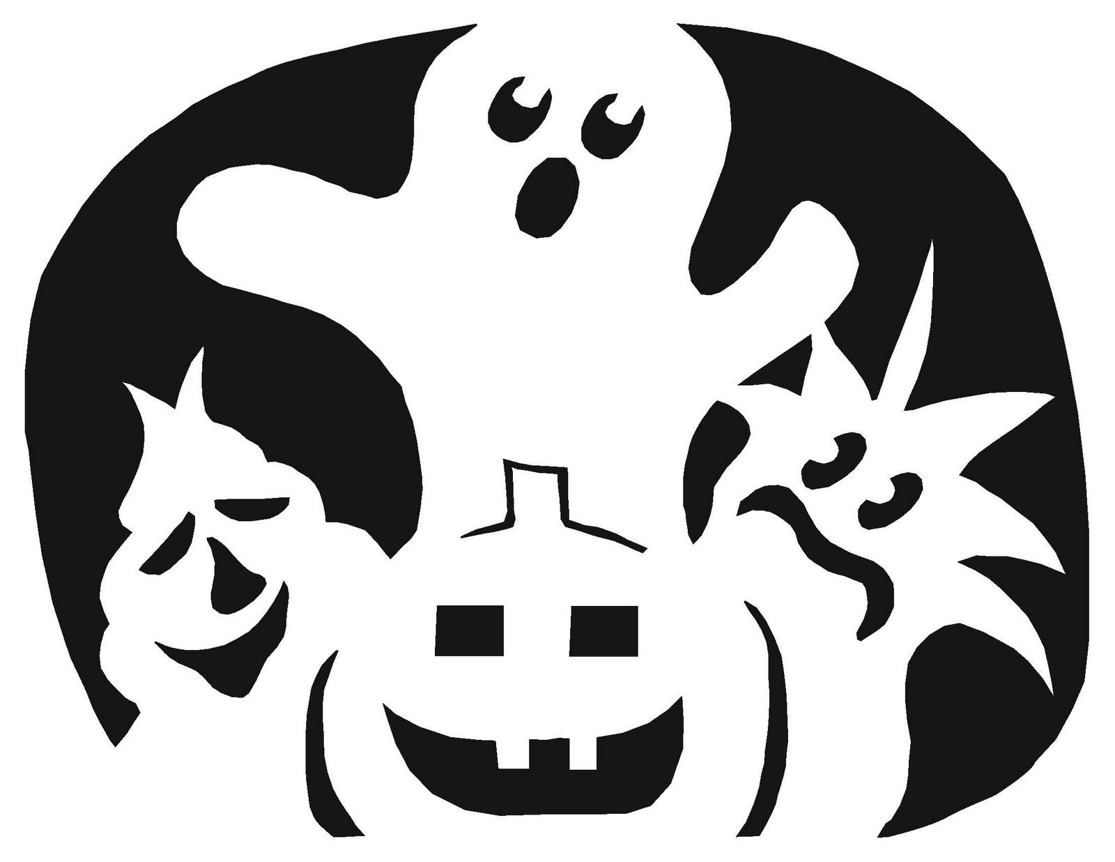 Funny Pumpkin Carving Templates | ... the black is what you cut out ...