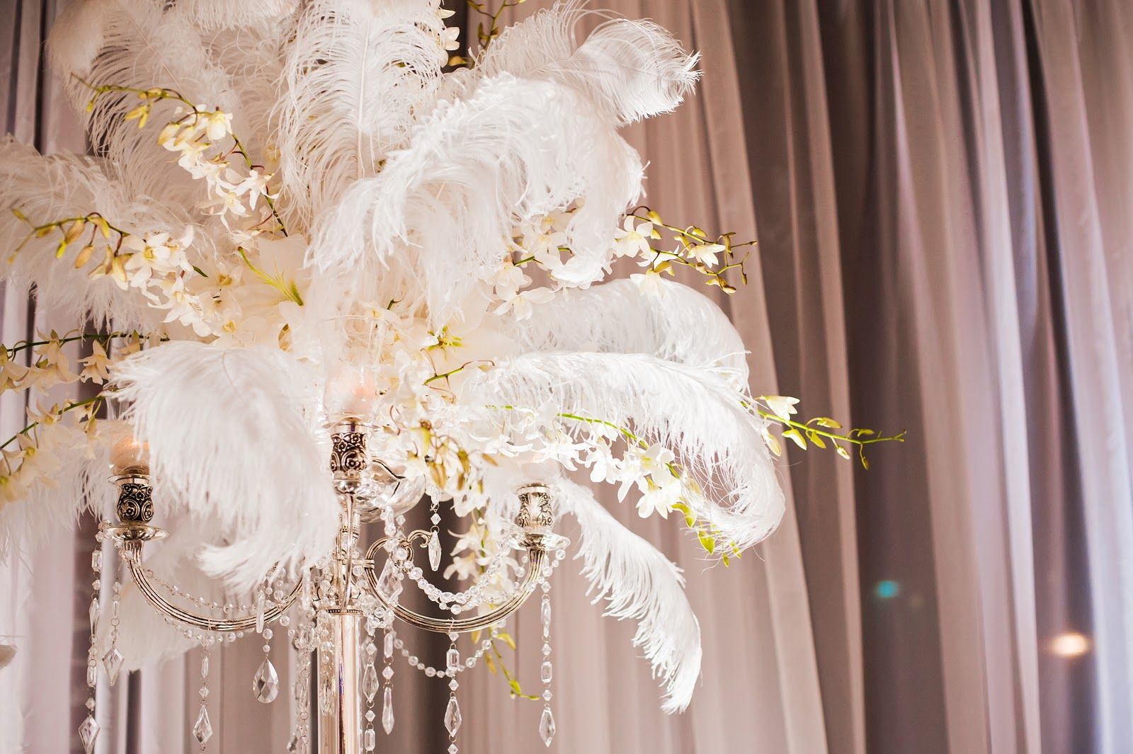 Pictures of ostrich feather decorations in weddings buy for Where can i buy wedding decorations