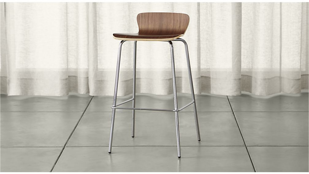 Felix Walnut Bar Stool | Lunchroom Renovation Inspiration | Pinterest