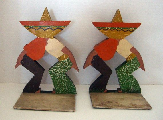 Just added today..............Vintage Folk Art Mexican Painted Wood by flyingdollar on Etsy, $59.99