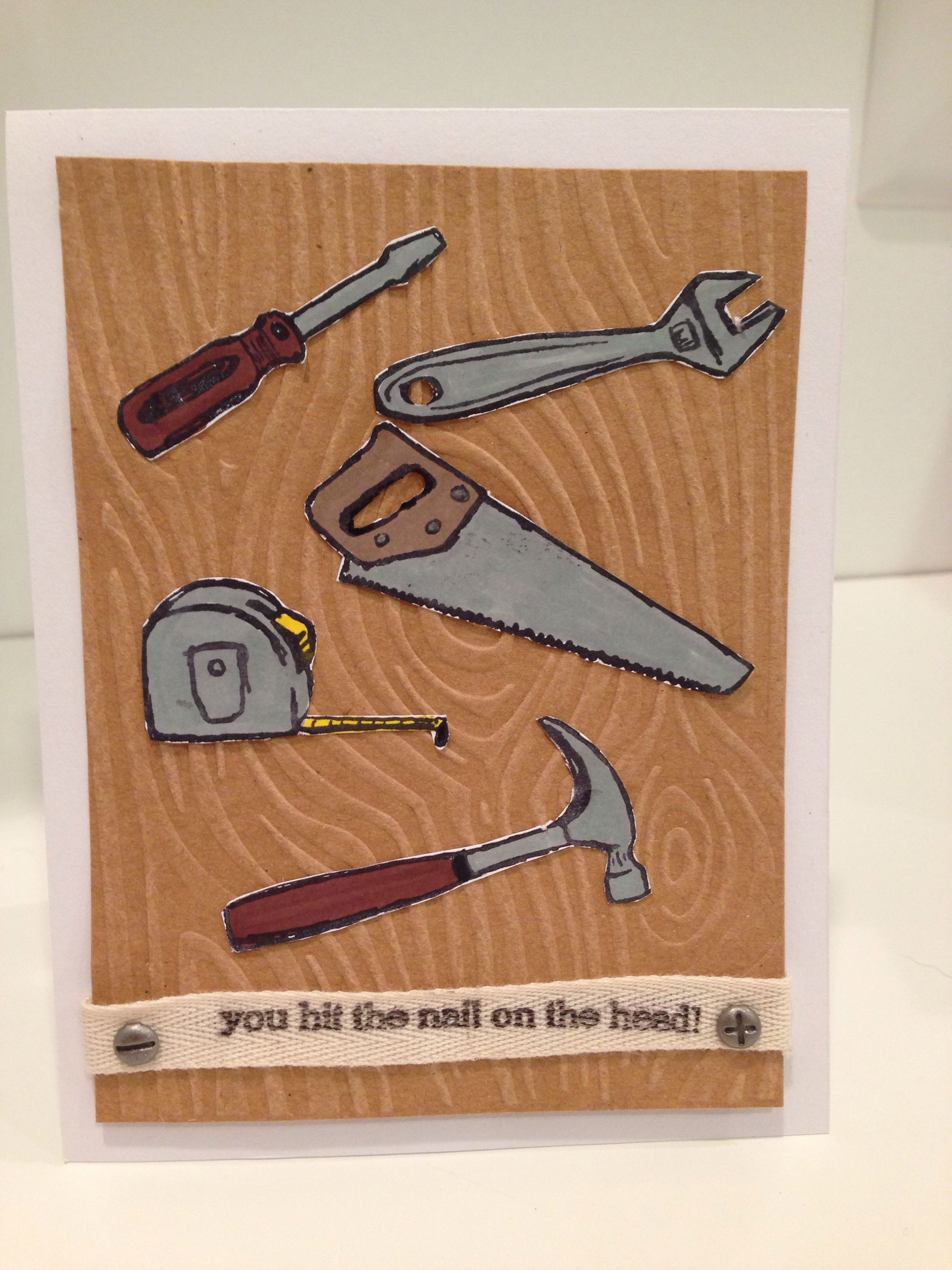 Totally Tool Stamp Set By Stampin Up Masculine Birthday Cards For Men
