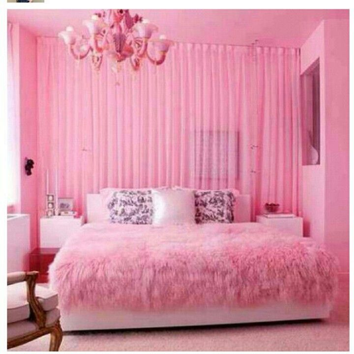 All pink everything. This room makes me smile :)