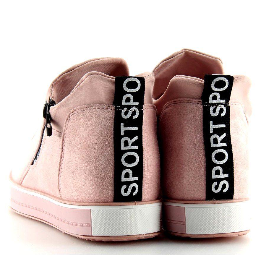 Trampki Na Koturnie Rozowe Nb168 Pink Sneakers Wedge Sneakers Trainers Women