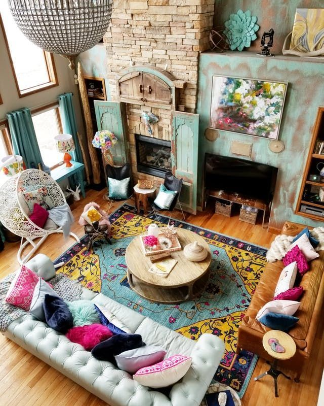 A colorful eclectic house in Colorado