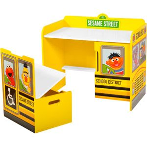 Sesame Street School Bus Desk And Bench Set