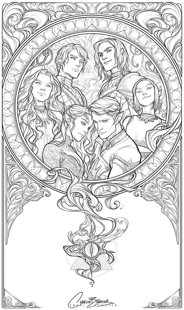 Charlie Bowater Coloring Books Book Art Coloring Book Pages