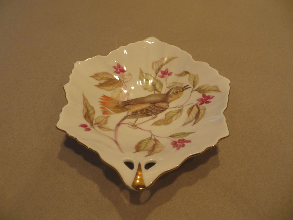 Vintage hand painted small candy dish made in Germany
