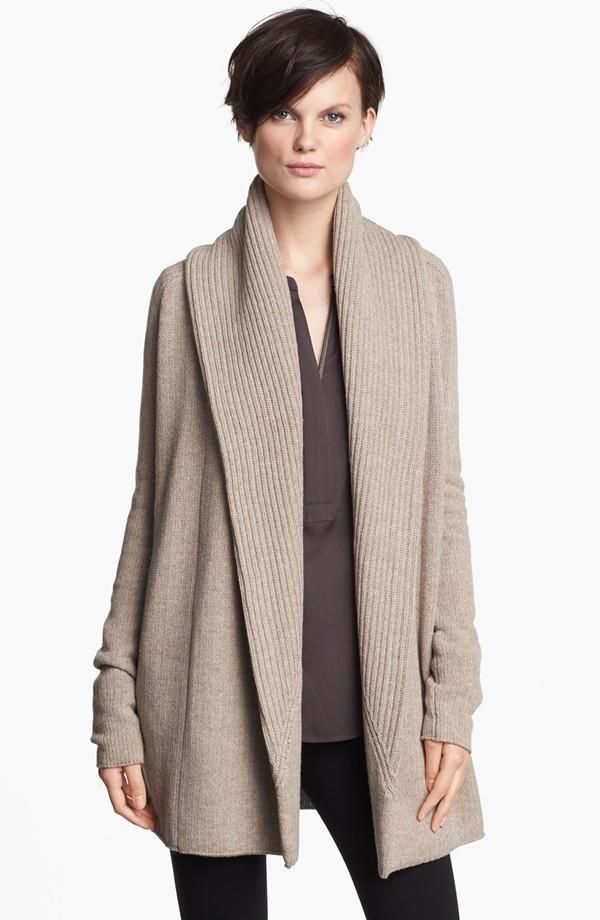 068100afd shawl collared k.n.i.t ~
