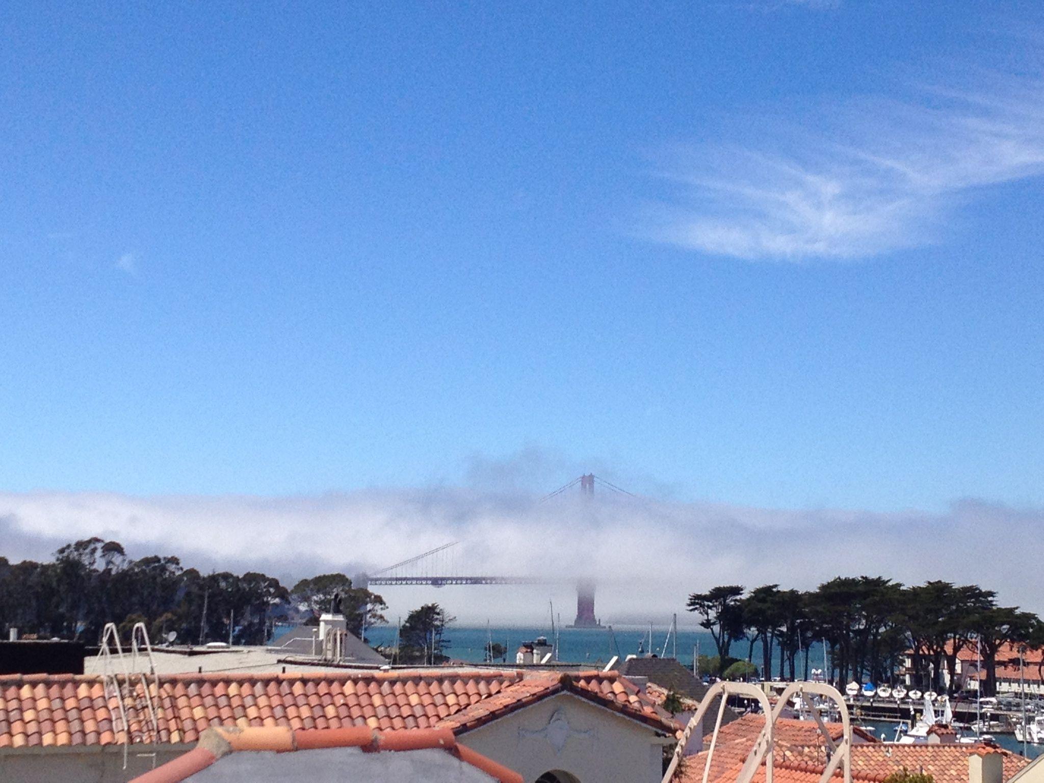 San Francisco view of golden gate bridge