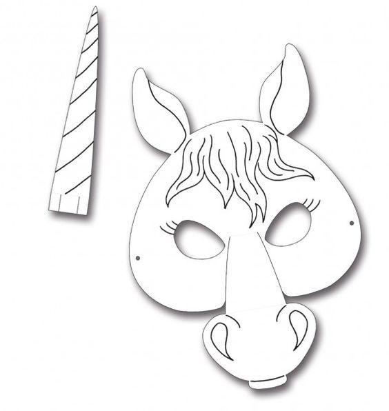 Kindermasken Pferd 6er Pack Pferd Maske Pferdemaske Masken Basteln