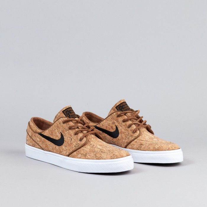 Nike SB Stefan Janoski Zoom Elite Cork Sneakers (Ale Brown/Black/White)