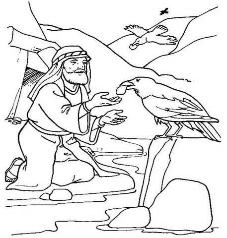 Ravens kids coloring pages ~ Elijah And The Ravens | Sunday School Crafts | Kids sunday ...