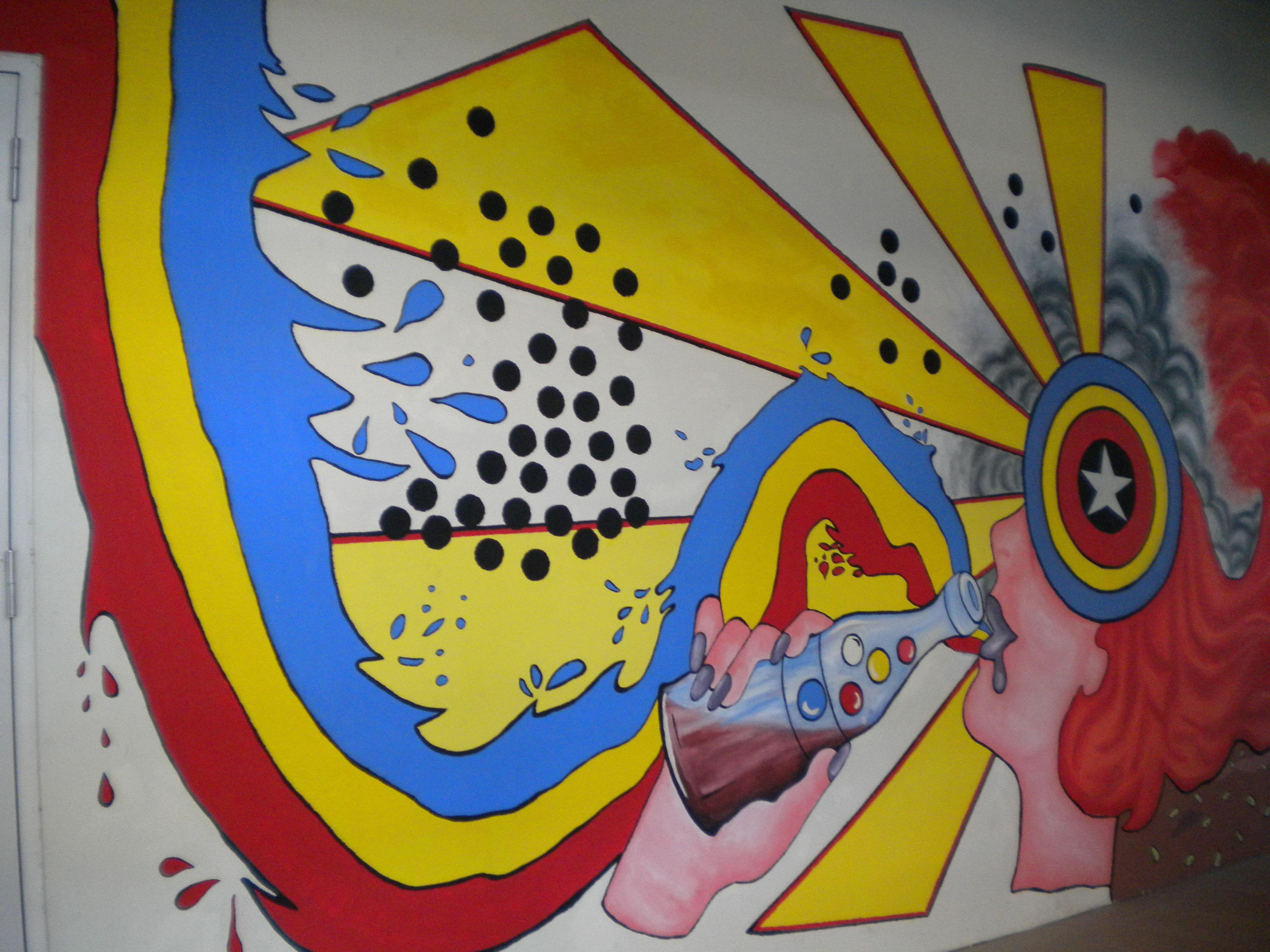 Painted Wall | Pop-art | Pinterest | Paint walls