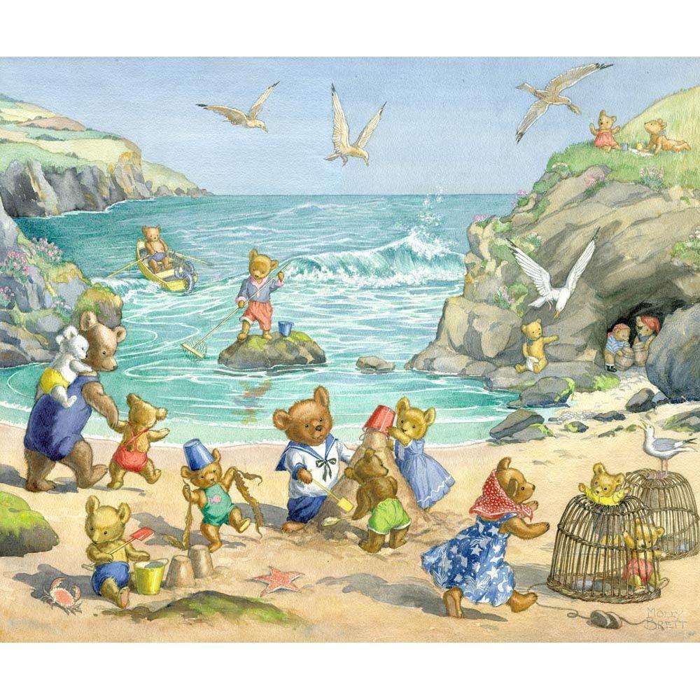 Teddy Bear Beach By Molly Brett British Illustrators