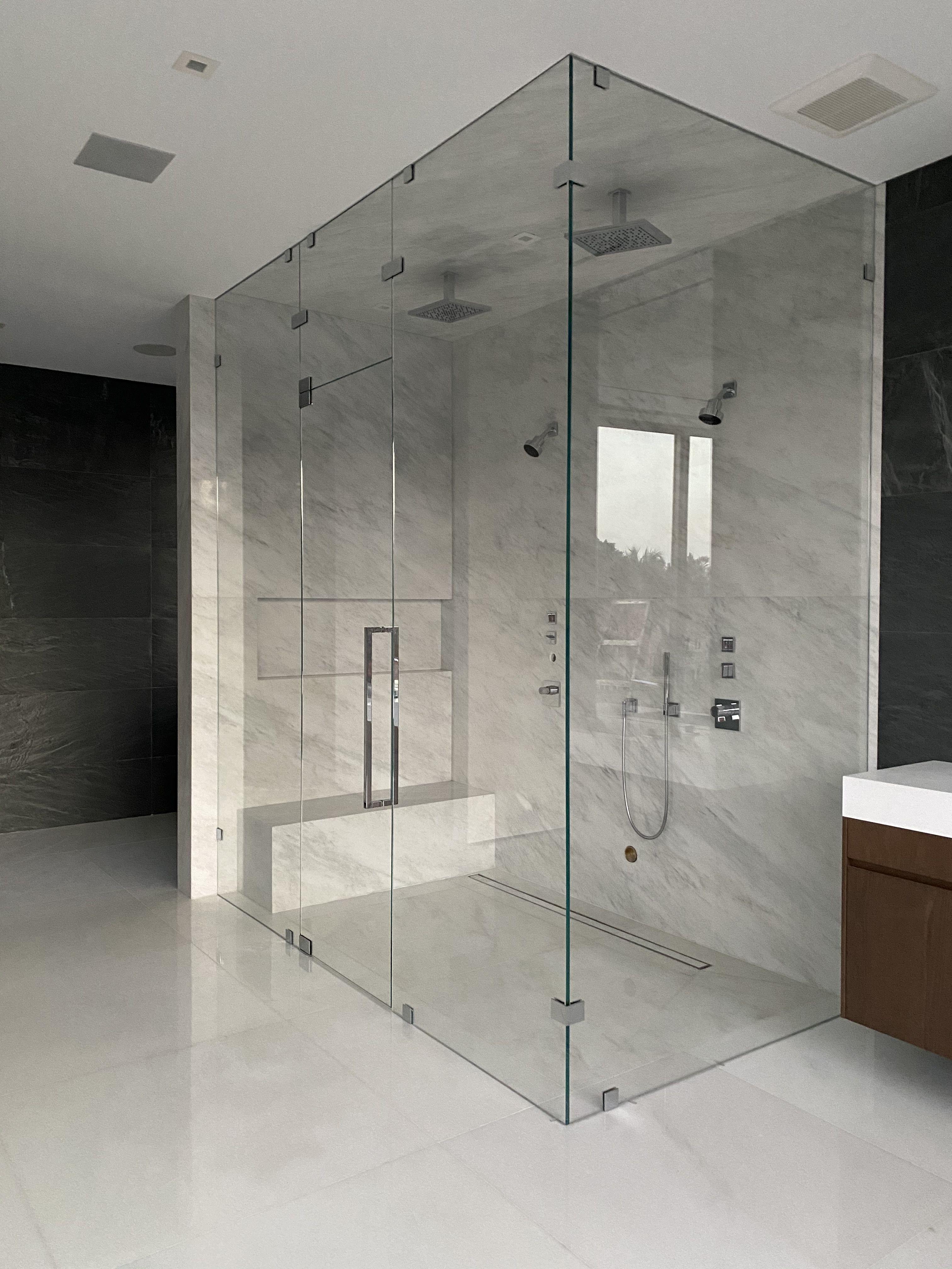 Steam Unit Glass Enclosure In 2020 Frameless Shower Enclosures Frameless Shower Doors Shower Enclosure Doors