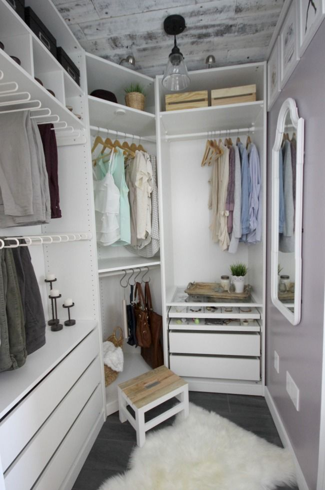 A Beautiful Dream Closet Makeover I Love The Organization Ideas Such Great Use Of Small E
