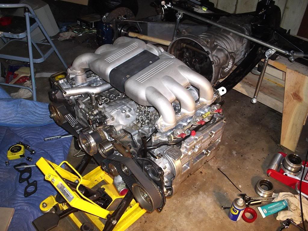 Bug with a huge subaru engine conversion yes people a 6 cylinder engine fitted into a bug it can be done