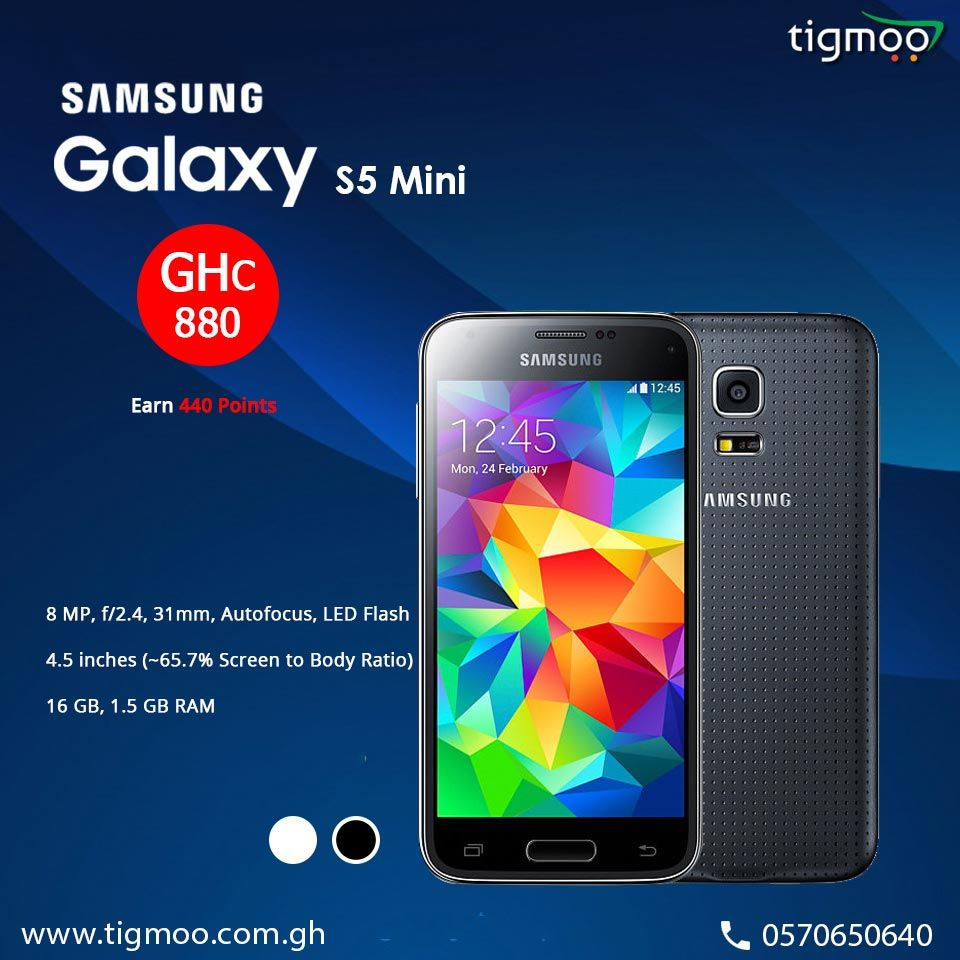 Order Online For Samsunggalaxys5 Mini With 8 Gb Internal Memory In Black Color At Tigmoo Https Www Tigmoo Com Gh Samsung Galaxy S5 Galaxy S5 Samsung Galaxy