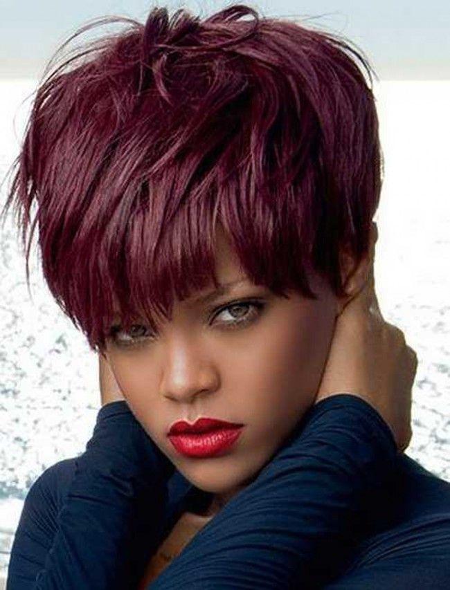 Pleasing Chic Short Burgundy Basic Cap Synthetic Hair Wigs Styling Wigs Short Hairstyles For Black Women Fulllsitofus