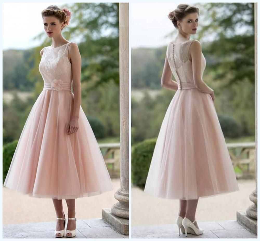 Neu kurz rosa spitze t ll brautjungfernkleid angefertigt - Rosa kleid kurz ...