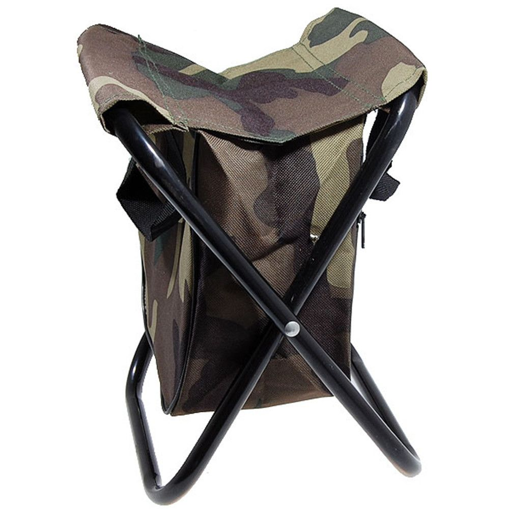 Portable Camping Camoflash Folding Chair Stool With