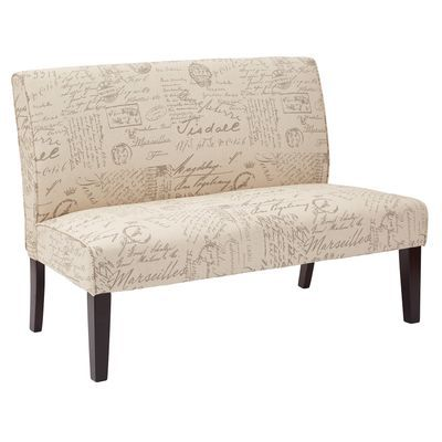 Laguna Ivory Script Loveseat Love Seat Furniture
