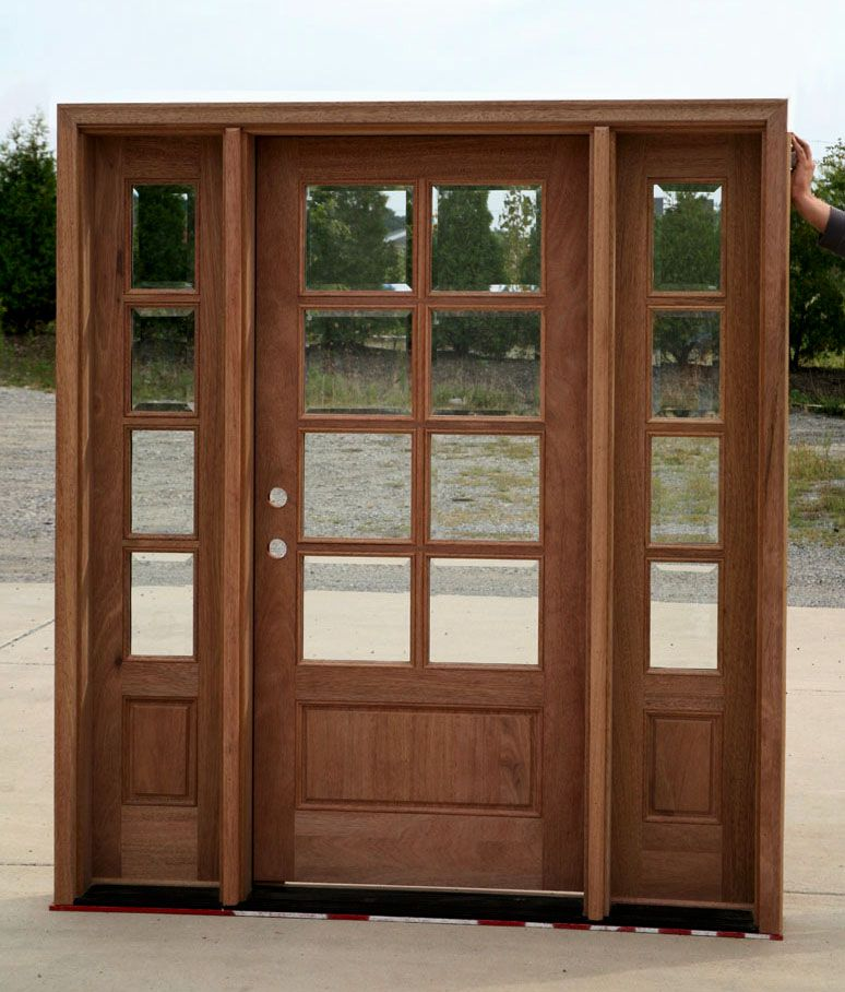 Exterior Doors With Sidelights Solid Mahogany Entry Doors Front