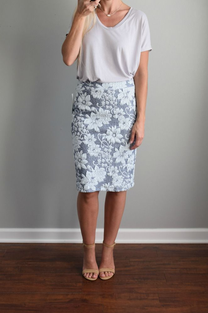 awesome Stitch Fix Review August 2016: Gilli Gretchen Printed Skirt |www.pearlsandsports...