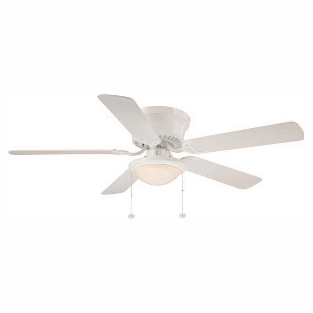 Unbranded Hugger 52 In Led Indoor White Ceiling Fan With Light Kit Al383led Wh The Home Depot In 2020 White Ceiling Fan Ceiling Fan With Light Ceiling Fan