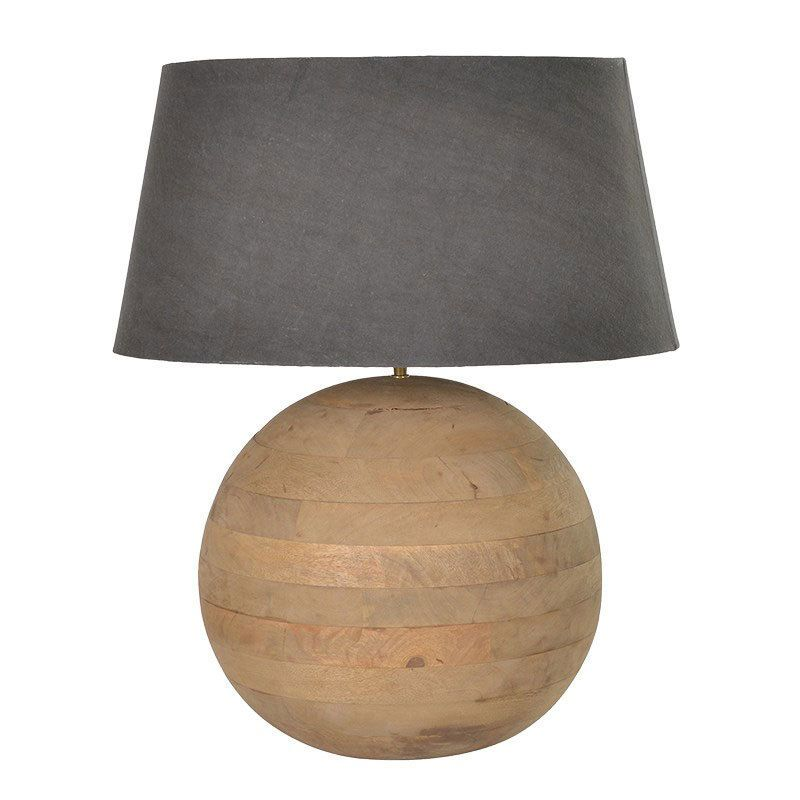 Large Ball Wooden Table Lamp Living Room Wood Lamp Wooden Table Lamps Table Lamp Table Lamps Living Room