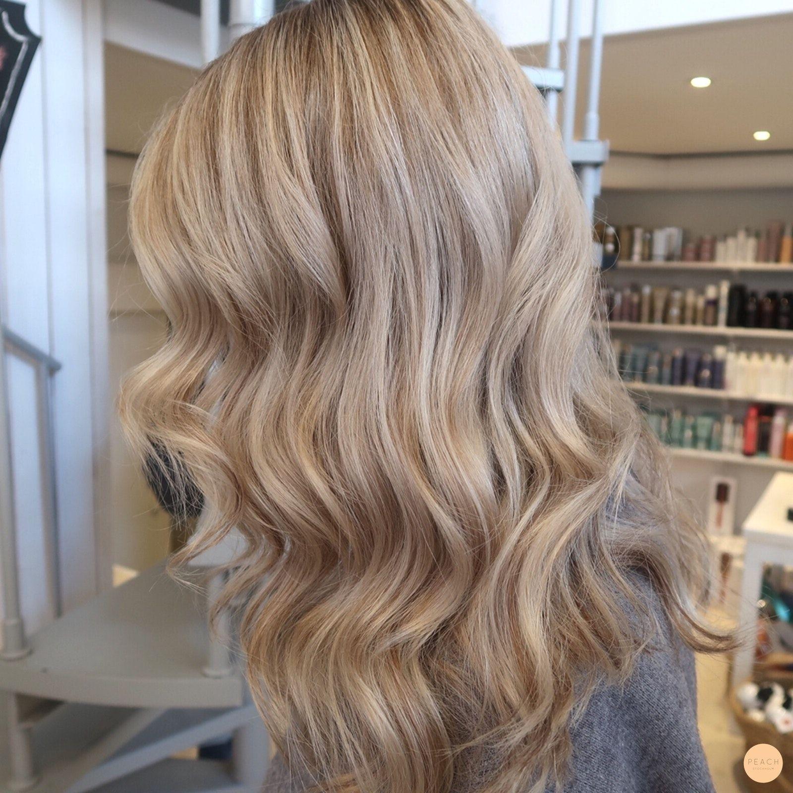 Lowlights I Blont Har Peach Stockholm Blont Har Beige Blont Har Frisyrer